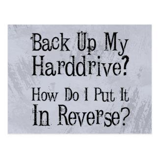 Backup Humor Postcard