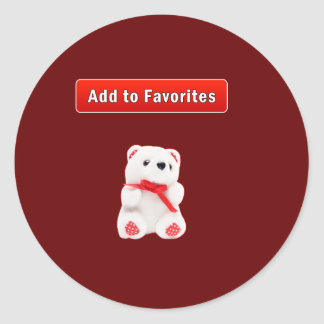 Backup IE favorites Classic Round Sticker