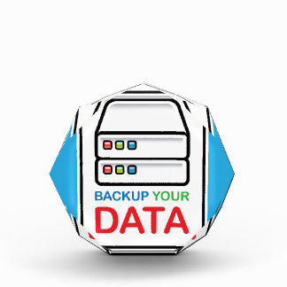 Backup Your Data Sign with hard drives Award