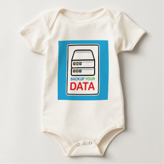 Backup Your Data Sign with hard drives Baby Bodysuit