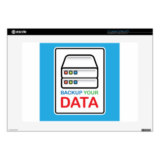"""Backup Your Data Sign with hard drives Decals For 15"""" Laptops"""