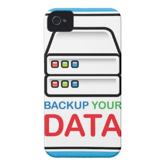 Backup Your Data Sign with hard drives iPhone 4 Case-Mate Case