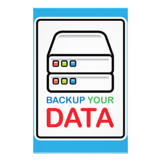 Backup Your Data Sign with hard drives Stationery