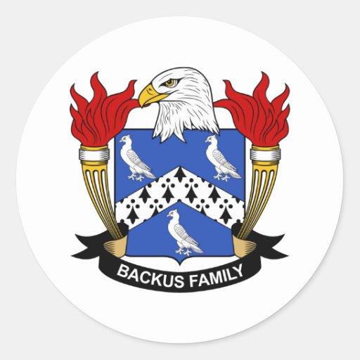 Backus Family Crest Round Sticker