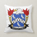Backus Family Crest Throw Pillows