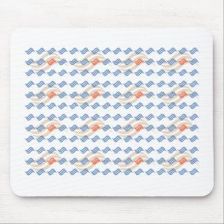 Backward Patterns Mouse Pad