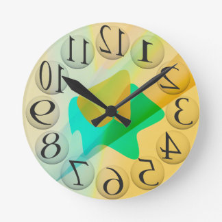 backwards numbers round clock