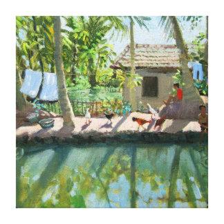 Backwaters India Canvas Print