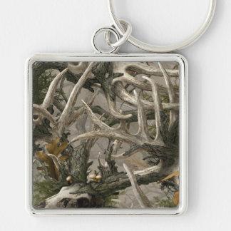 Backwoods deer skull camo keychain