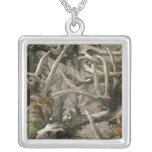 Backwoods deer skull camo necklace