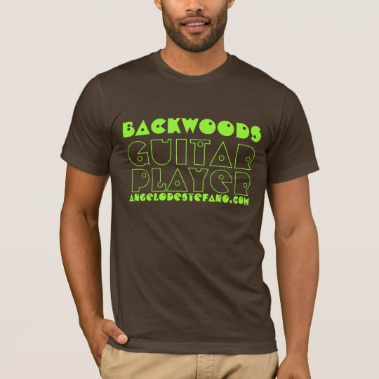 Backwoods, Guitar, Player, AngeloDeStefano.com T-Shirt