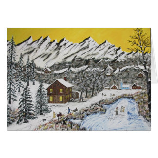 Backwoods Winter Card