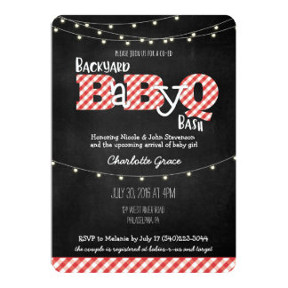 Backyard BaByQ Bash BBQ Baby Shower Invitation