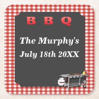 Backyard Barbecue Drink Coasters