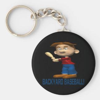 Backyard Baseball Basic Round Button Keychain