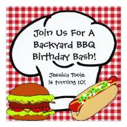 Backyard BBQ Birthday Invitation at Zazzle