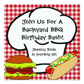 Backyard BBQ Birthday Invitation