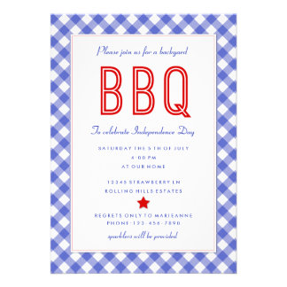 Backyard BBQ |Fourth of July Party Invitation
