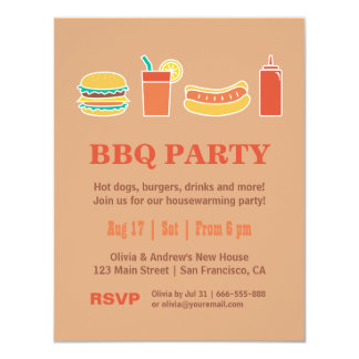 Backyard BBQ Housewarming Party Invitations