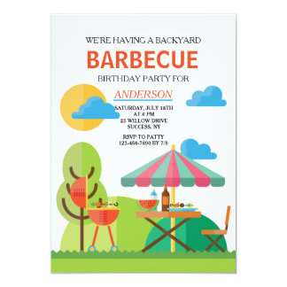 Backyard BBQ Invitation