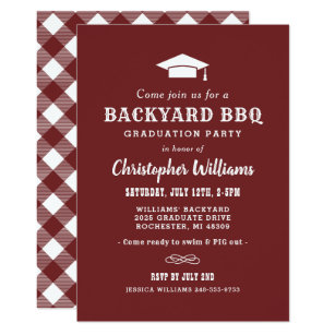 Graduation Bbq Invitations Announcements Zazzle