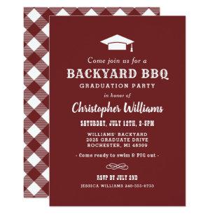 Graduation bbq invitations announcements zazzle backyard bbq invitation graduation party stopboris Images