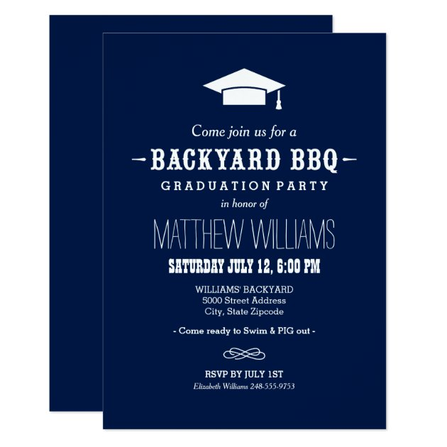 Backyard BBQ Invitation | Graduation Party