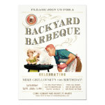 Backyard BBQ Invitations | Vintage Classic V.1