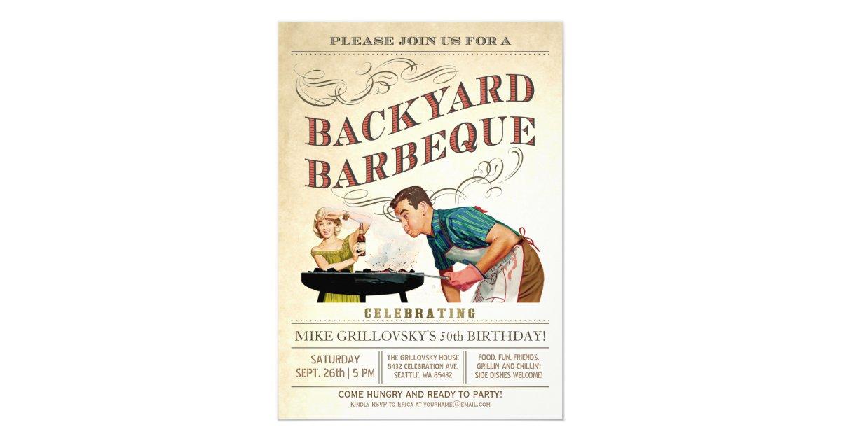 Backyard Bbq Wedding Invitations: Backyard BBQ Invitations