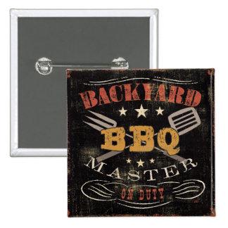 Backyard BBQ Master Pinback Button