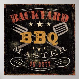 Backyard BBQ Master Poster