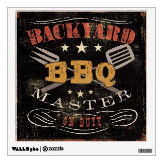 Backyard BBQ Master Wall Decal