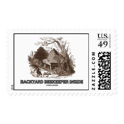 Backyard Beekeeper Inside (Bees Beehive) Postage Stamps
