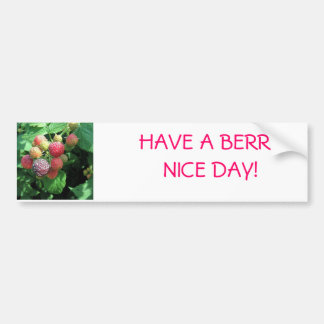 Backyard Berries Car Bumper Sticker