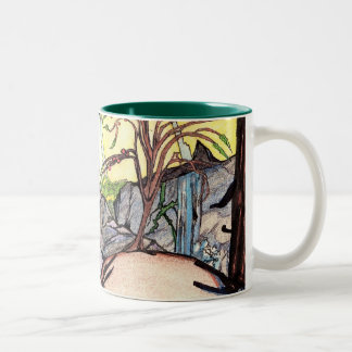 Backyard Biodome Two Tone Mug