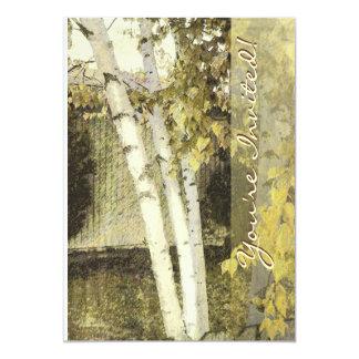 "Backyard Birches Harmony 1 5"" X 7"" Invitation Card"