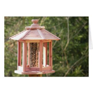 Backyard Bird Feeder Note Card
