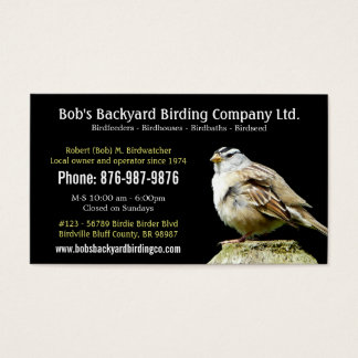 Backyard Bird Supply Business with Wild Bird Business Card