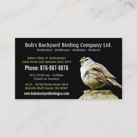 Backyard Bird Supply Business with Wild Bird Business Card ...