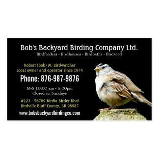 Backyard Bird Supply Business with Wild Bird Double-Sided Standard Business Cards (Pack Of 100)