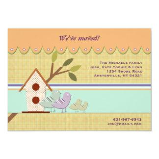 Backyard Birdhouse Moving Announcement