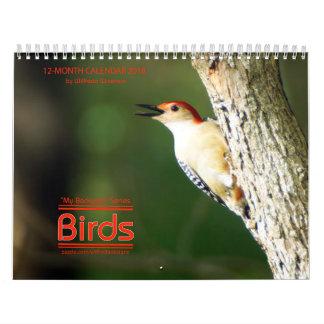 Backyard Birds 2018 Calendar