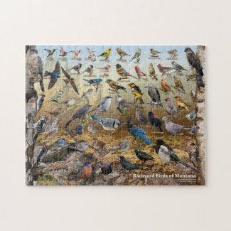 Backyard Birds of Montana Jigsaw Puzzle