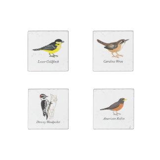 Backyard Birds Stone Magnet