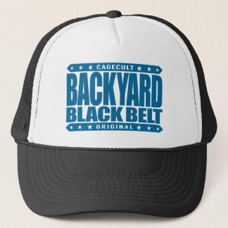 BACKYARD BLACK BELT - I Love Jiu-Jitsu BJJ, Blue Trucker Hat