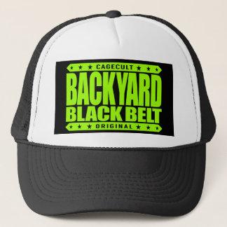 BACKYARD BLACK BELT - I Love Jiu-Jitsu BJJ, Lime Trucker Hat