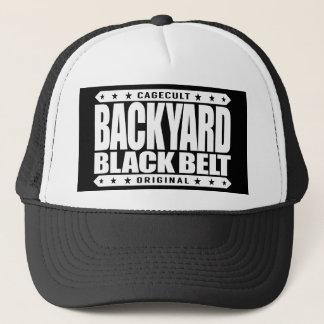BACKYARD BLACK BELT - I Love Jiu-Jitsu BJJ, White Trucker Hat