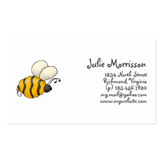 Backyard Buggies · Bumblebee Double-Sided Standard Business Cards (Pack Of 100)