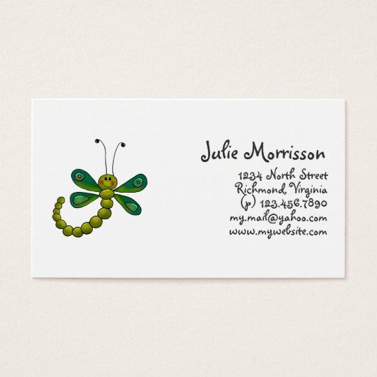 Backyard Buggies · Green Dragonfly Business Card
