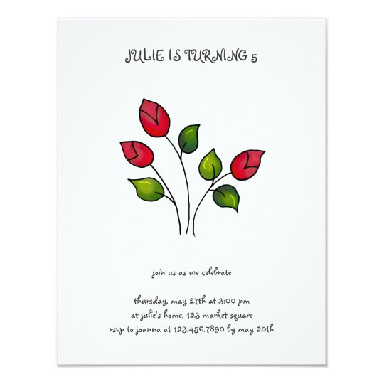 Backyard Buggies · Red Roses Card